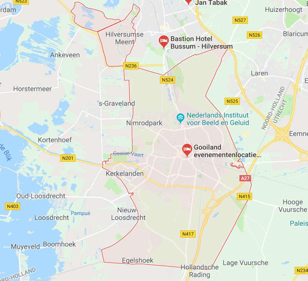 schilder in Hilversum